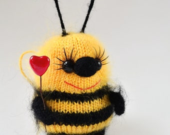 Bumble Bees Toy Bee Stuffed Toy Bee Bee Nursery Bumble Bee Nursery Bee Softies Stuffed Bees Bee Ornament Knit Bee Easter decor Easter gift