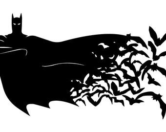 SVG Batman instant download, Batman silhouette file, Batman svg, Batman eps, Batman file, Batman cutting file, Batman silhouette