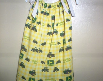 Handmade Pillowcase Dress Using John Deere Fabric