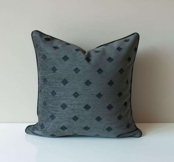 Black Chenille Throw Pillows : Black Throw Pillow Cover Chenille Throw Pillow Black Pillow