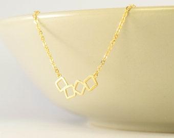 dainty geometric necklace, minimal geometric necklace, dainty modern gold necklace, geometric necklace, dainty necklace, minimal necklace