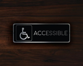 ACCESSIBLE RESTROOM SIGN, Accessible Restroom Door Sign, Restroom Door Sign, Restroom Decor, Accessible Restroom plaque, Accessible Restroom