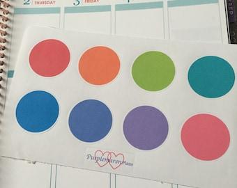 Rainbow Circle Planner labels