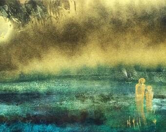 Awaiting, original acryling painting