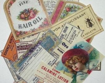 25 Vintage Label Ephemera Reproductions
