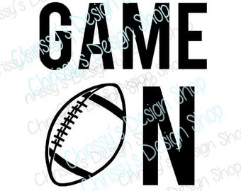 Football SVG cut file / Game on svg / game on football svg / game on clip art / vinyl crafts / football svg / football clip art / Sports svg