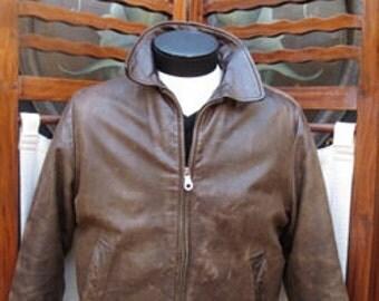 Vintage Brown Leather BANANA REPUBLIC Jacket Medium  MLJ011