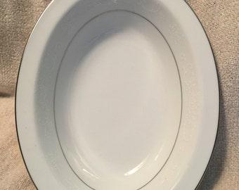 """Noritake 10"""" oval vegetable bowl.  pattern 6115."""