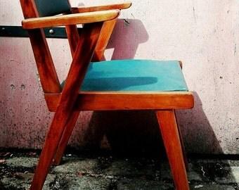 Chair Bridge Scandinavian years 50. Vintage retro.