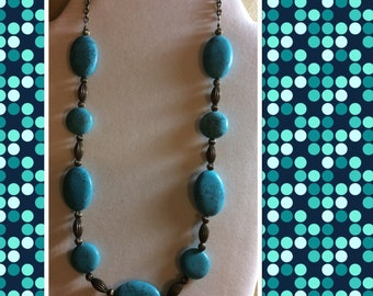 Turquoise necklace-20%off use coupon code MERRY20