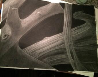 Tree Stump Drawing