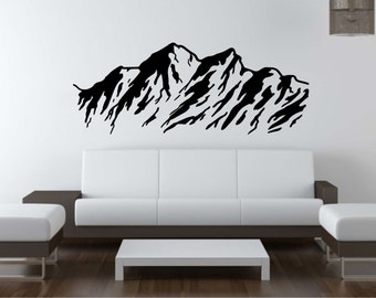 Mountains Wall Decal Vinyl Sticker Nature Wall Art Mural Available In 10  Different Sizes And 30 Part 76