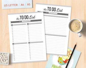 Printable Planner To Do List Printable Planner Pages Daily TO DO Planner Page To Do Planner Inserts To Do List Notepad To Do List Notebook