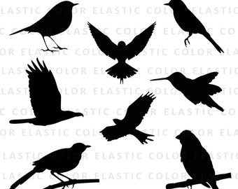 Bird svg silhouette pack - bird clipart vector digital download svg, eps, dxf, png