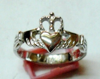 Wedding sterling silver, Claddagh, s-06 ring ring