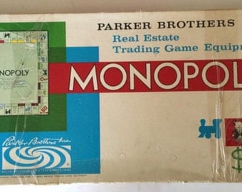1961 vintage monopoly game by parker brothers