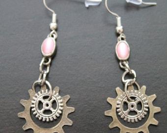 Pink Beaded Gears