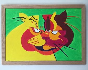 Cat Print A3