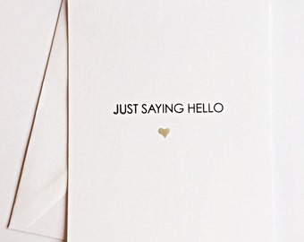 Just saying hello stationery note card set, note cards, stationery set