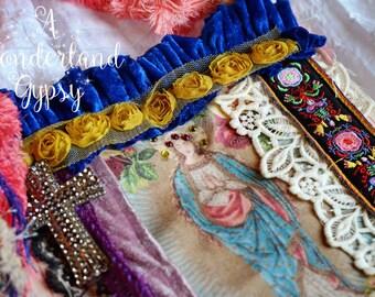 Gypsy Canvas Tote Mary Bohemian Bag Funky Romantic Unique Artsy