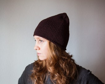 Knit Brown Hat/Beanie