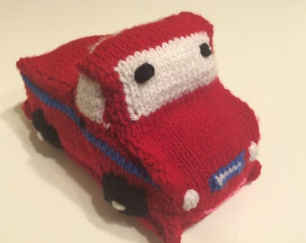 Snazzy hand knit pickup truck