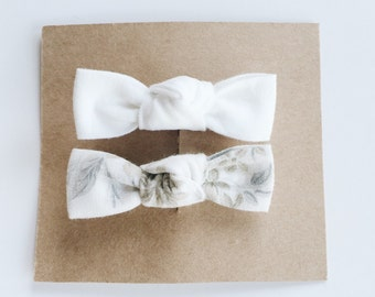 Hand tied bow hair clip, alligator clip