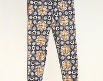 Mosaic Tile Print Leggings