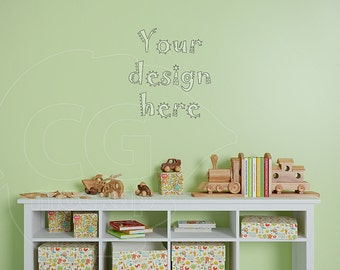 Blank wall mockup, Kids room mockup, No frame mock up, Wall stickers, Styled stock, Emptyness, Nursery art, Product mockups, Wall decal