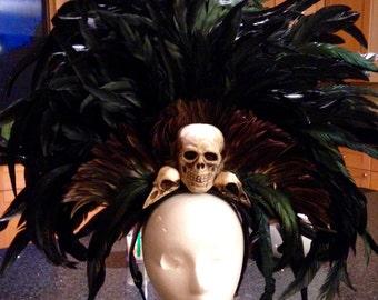 Voodoo/witch doctor/dark priestess headdress