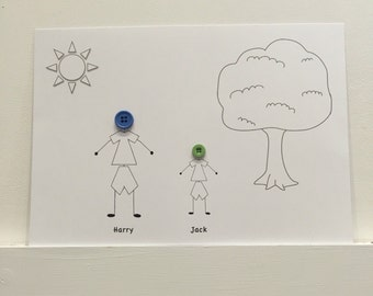 Stick figure cartoon print