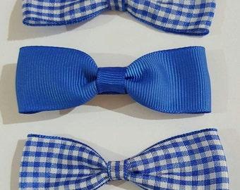 Royal Blue School Hair Bows - Various colours available UK SELLER