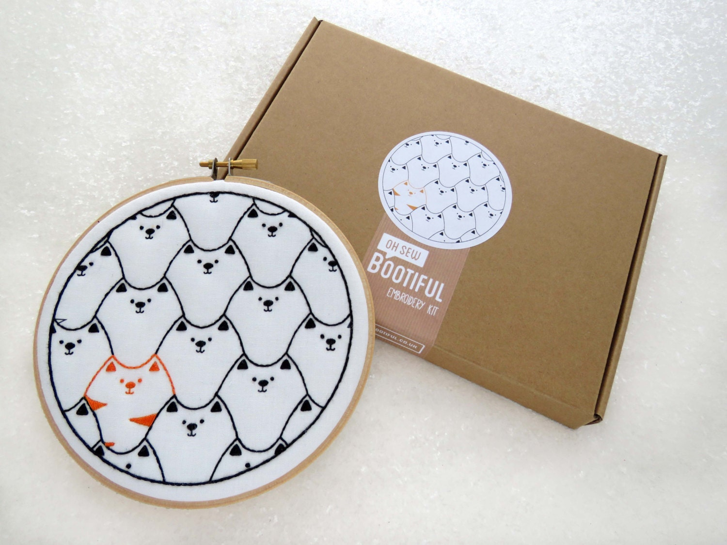 Cats embroidery kit cat lovers gift hoop art