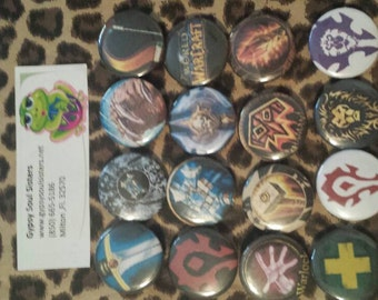 WoW Button set of 16