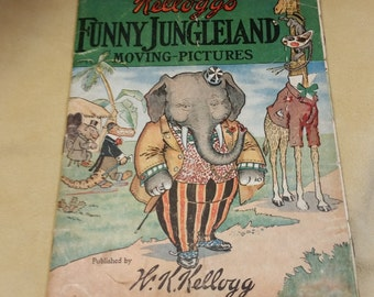 Kellogg's Funny Jungleland Moving Pictures Book