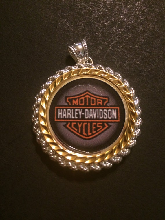 harley davidson silver gold tone pendant charm south