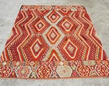 Bohemian kilim rug, carpet, Anatolian Ethnic kilim, 8'8x5'9 ft, Area Rug, 271x182 cm, handwoven kilim
