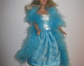 Barbie two piece party outfit with boa