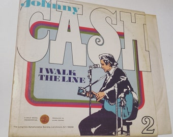 FREE SHIPPING - Johnny Cash: I Walk The Line - vintage vinyl record album country western folk acoustic bluegrass rock and roll music 70s