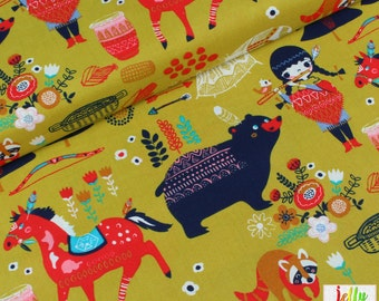 30% OFF - ORGANIC Cotton Fabric - Village Feast from Wildland Collection by Birch Fabrics - UK Seller