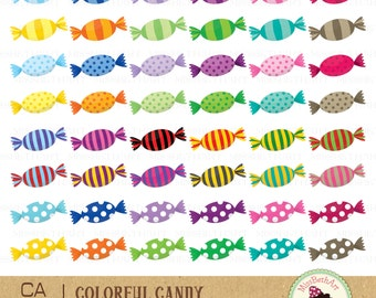 Candy Clipart - Instant Download