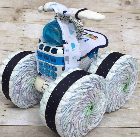Cool Baby Boy Gift Ideas : Nautical diaper cake unique cakes boy