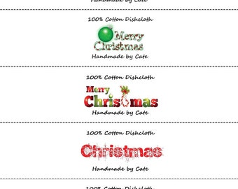 Merry Christmas Labels/Wraps - PDF FILE ONLY