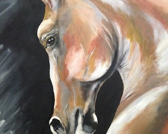 Original Acrylic Horse Painting, Art