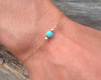 Bracelet chains Golden and blue stone