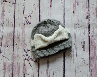 Knit Bow Hat