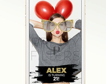 DIY Snapchat GeoFilter for Birthday Party | | Glitter Sunglasses | We Customize for You | Ready in 24 hours | Perfect Gift