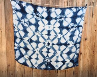 Muslin Shibori Indigo Dyed Swaddle