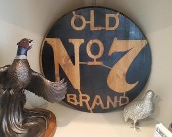Custom Made Jack Daniels Old No. 7 Round Wood Sign