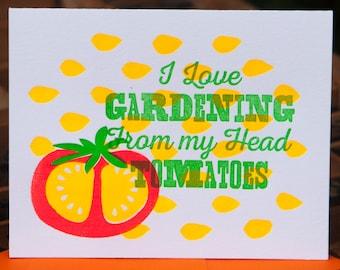 Letterpress Note Card - Garden - set of 10